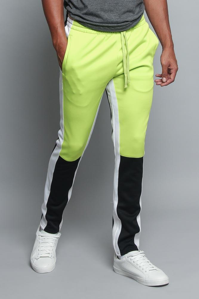 Color Blocked Track Pants - MEN BOTTOMS - NIGEL MARK