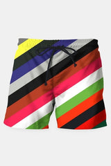Color Stripes Shorts - MEN SHORTS - NIGEL MARK