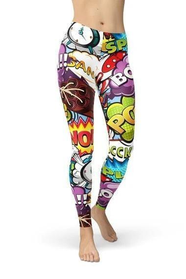 Comic Book Explosions Leggings - BOTTOMS - NIGEL MARK