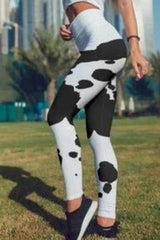 Cow Pattern Leggings - BOTTOMS - NIGEL MARK