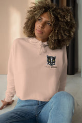pink and black panther mascot hoodie