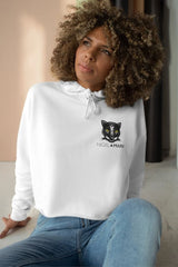 women's white and black panther mascot hoodie