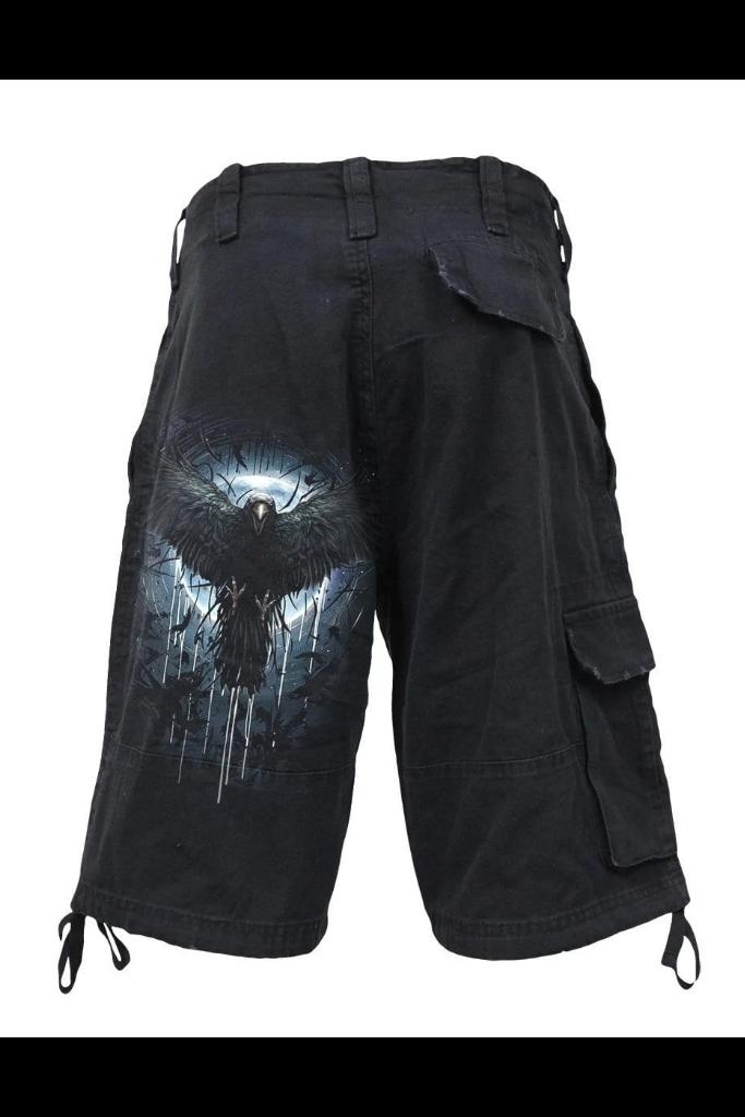 CROW MOON - Vintage Cargo Shorts Black - MEN SHORTS - Cargo - NIGEL MARK