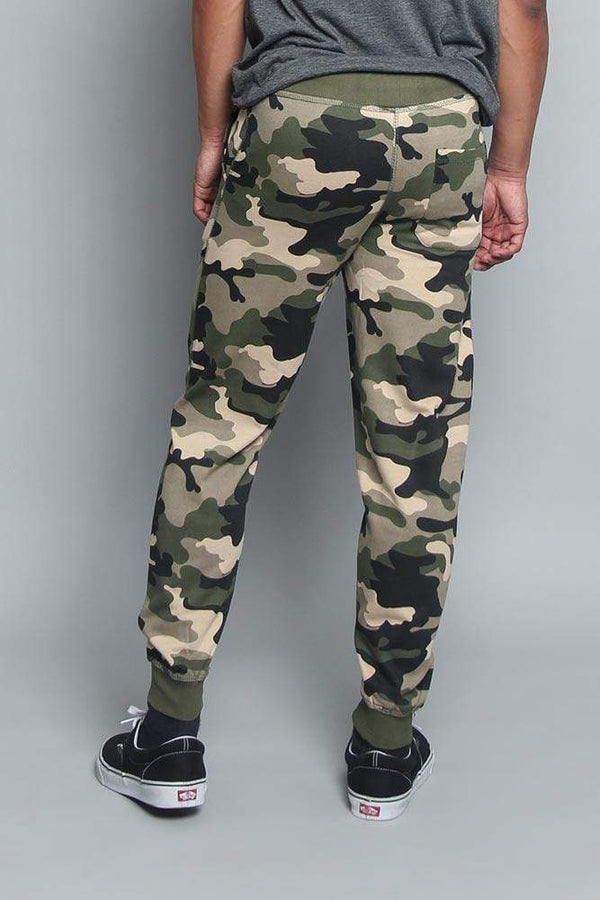 Cuffed Camo Joggers - MEN BOTTOMS - NIGEL MARK