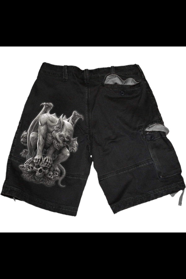 CUSTODIAN - Vintage Cargo Shorts Black - MEN SHORTS - NIGEL MARK