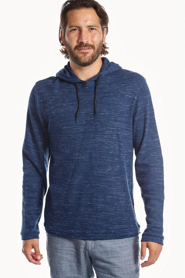 Dark Blue Waffle Pullover - Men's Clothing - NIGEL MARK