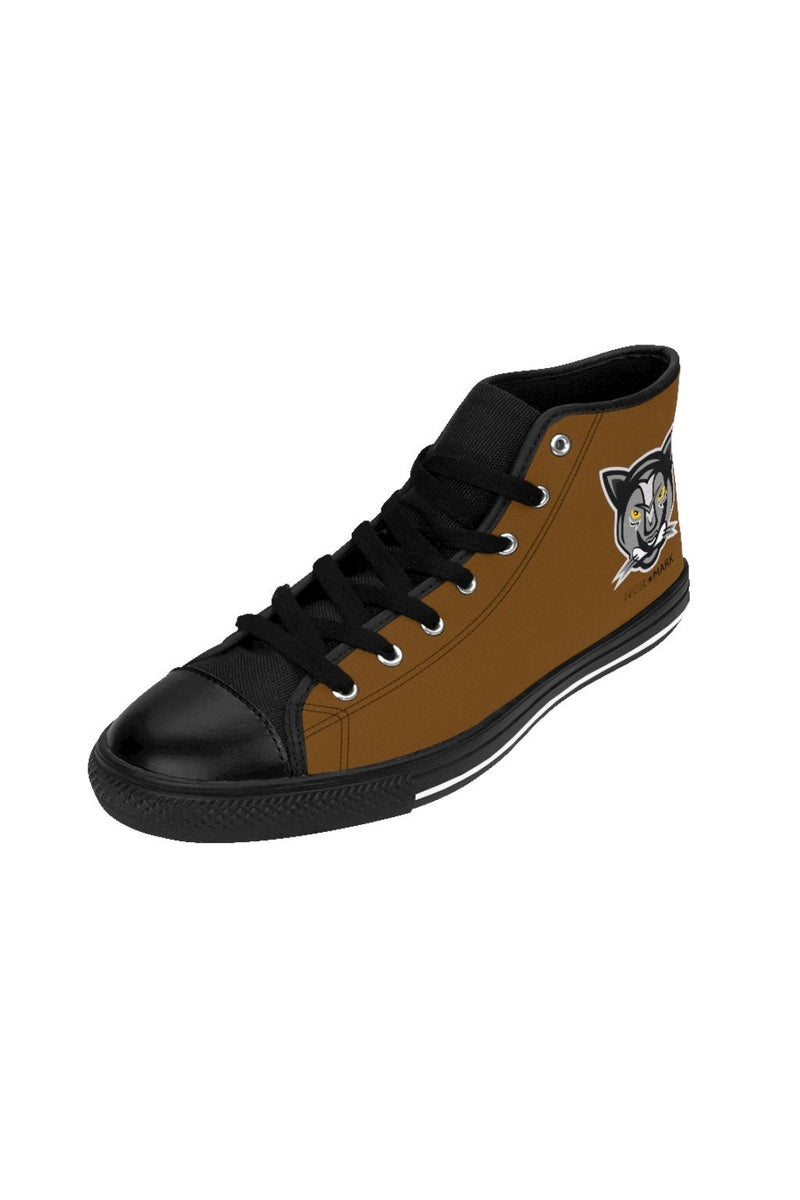 Dark Brown Panther NM High-top Sneakers - NM BRANDED - NIGEL MARK