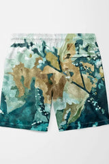 Dark & Floral Shorts - MEN SHORTS - NIGEL MARK