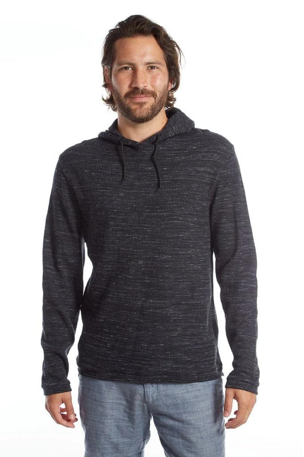 Dark Gray Waffle Pullover - Men's Clothing - NIGEL MARK