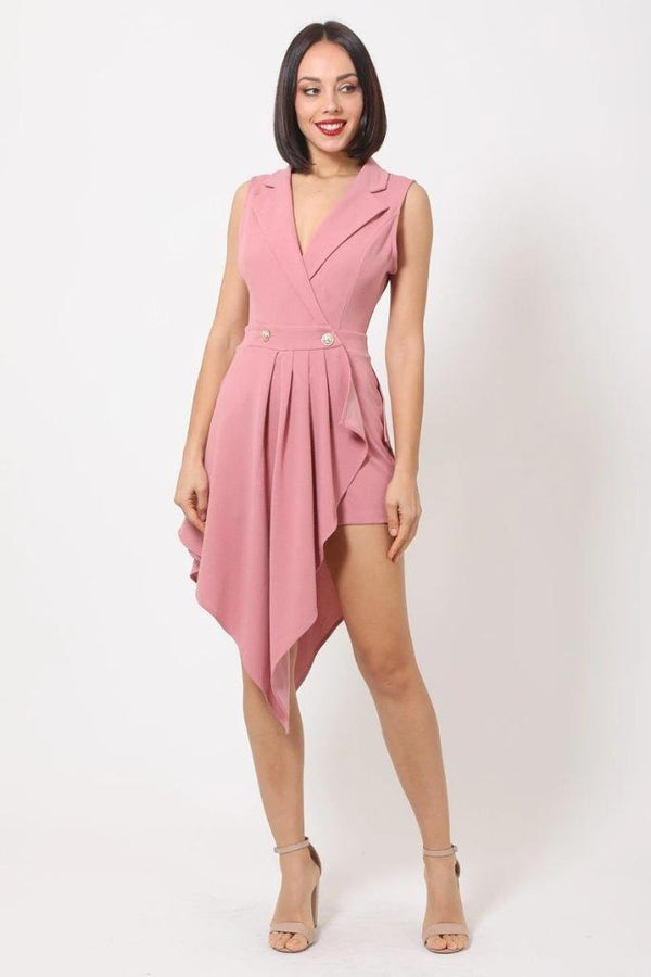 Dark Mauve Fashion Romper - NIGEL MARK