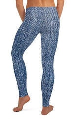 Denim Printed Leggings - BOTTOMS - NIGEL MARK
