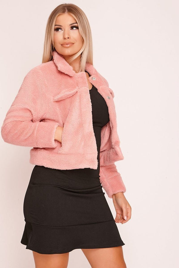 Double Pocket Teddy Jacket - WOMEN JACKETS - NIGEL MARK