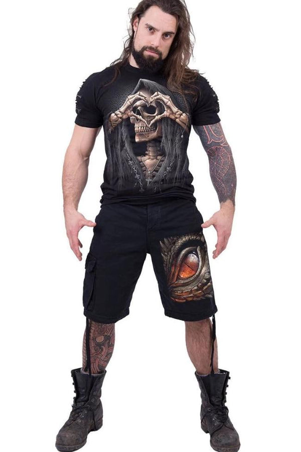 DRAGON EYE - Vintage Cargo Shorts Black - MEN SHORTS - NIGEL MARK