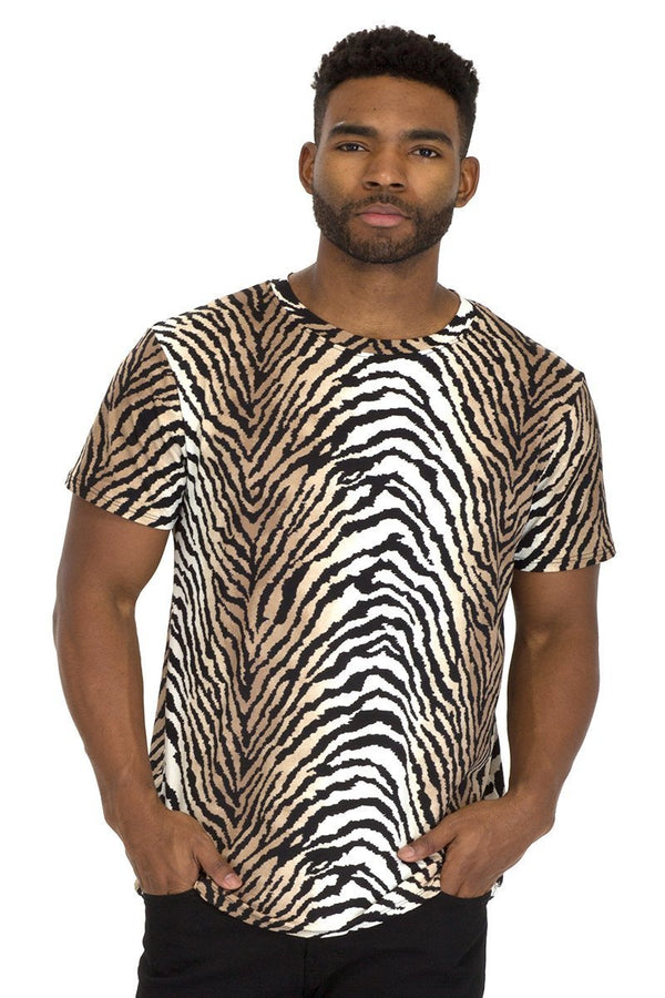 Dual Zebra Print Tee - Men's Clothing - NIGEL MARK
