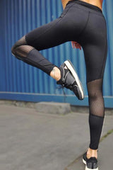 Elastic Splice Net Leggings - WOMEN BOTTOMS - NIGEL MARK
