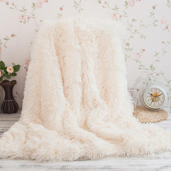 Elegant Throw Blanket - White - BEDROOM - NIGEL MARK
