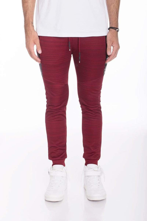 Essential Marble Jogger - Burgundy - MEN BOTTOMS - NIGEL MARK