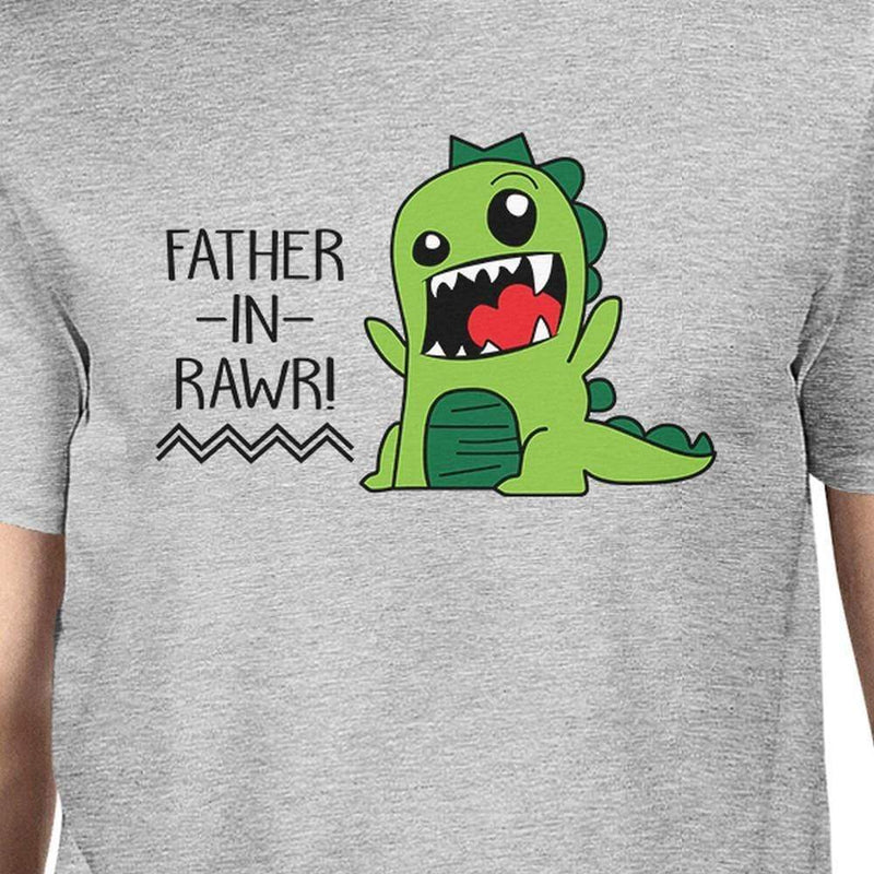 Father-In-Rawr Cotton Grey Funny Design T Shirt - MEN TOPS - NIGEL MARK