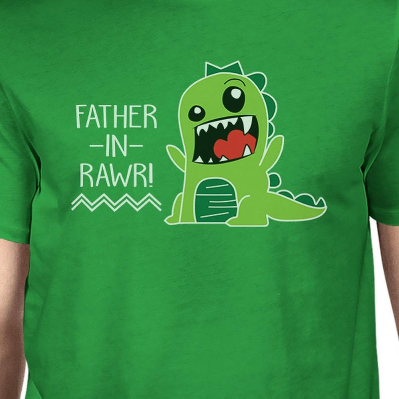 Father-In-Rawr Men's Green Short Sleeve Graphic - MEN TOPS - NIGEL MARK