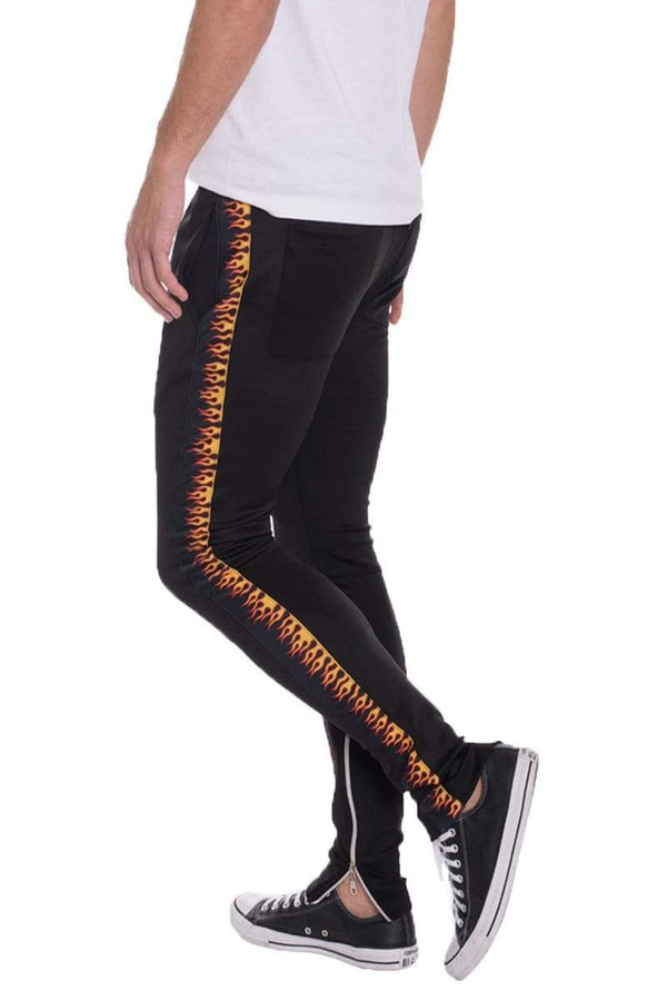 Flame Track Pants - MEN BOTTOMS - NIGEL MARK