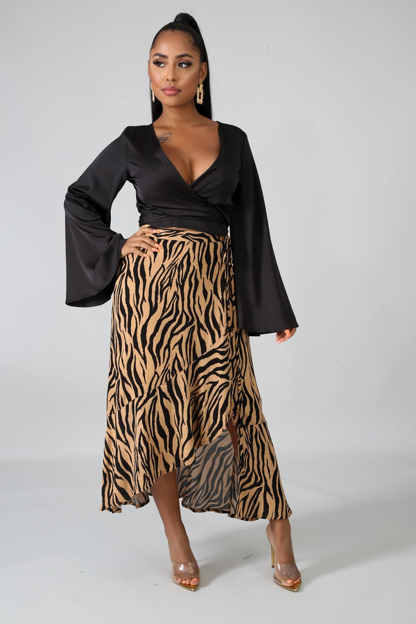 Flare Print Skirt - WOMEN BOTTOMS - NIGEL MARK