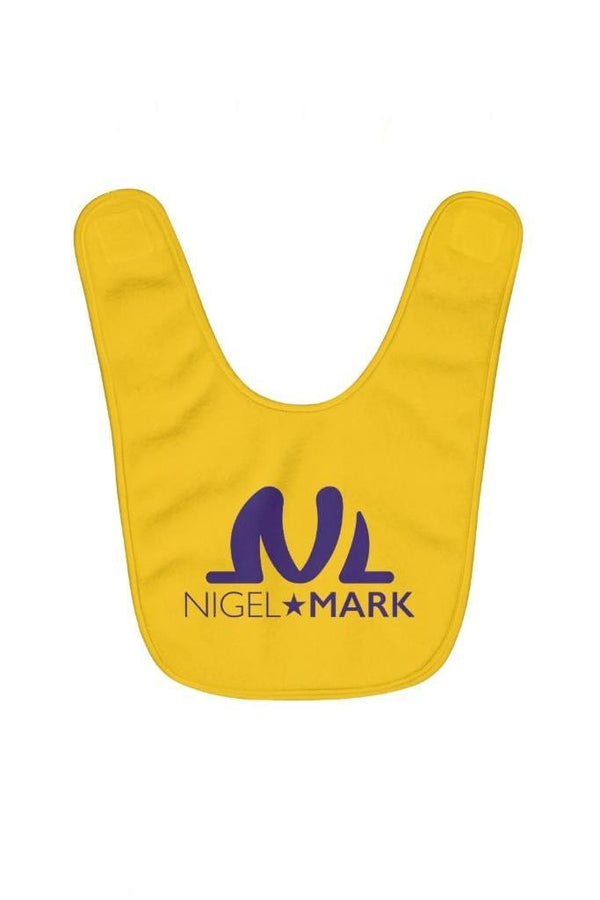 yellow and purple baby bib