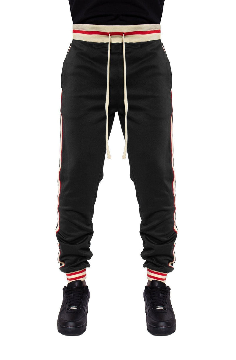 Fleece Track Pants with Side Stripes - MEN BOTTOMS - NIGEL MARK