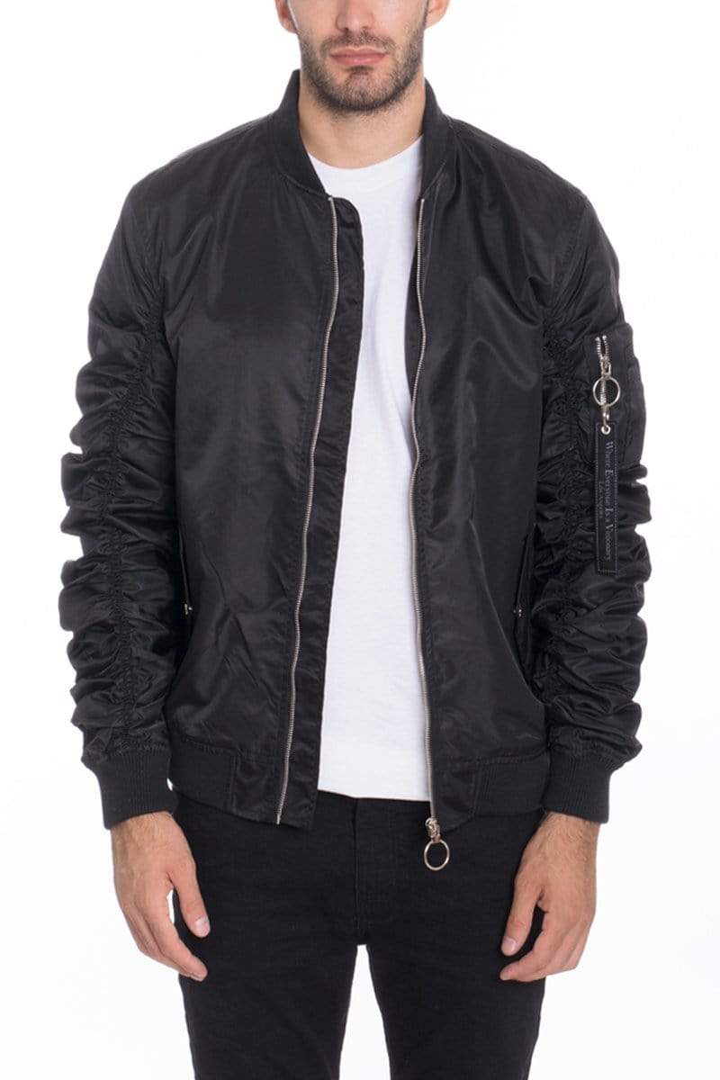 Flight Lined Bomber - Black - MEN JACKETS & COATS - NIGEL MARK
