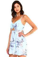 Floral Cut Out Romper - Jumpsuits & Rompers - NIGEL MARK