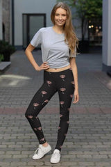 Floral Leggings - BOTTOMS - NIGEL MARK