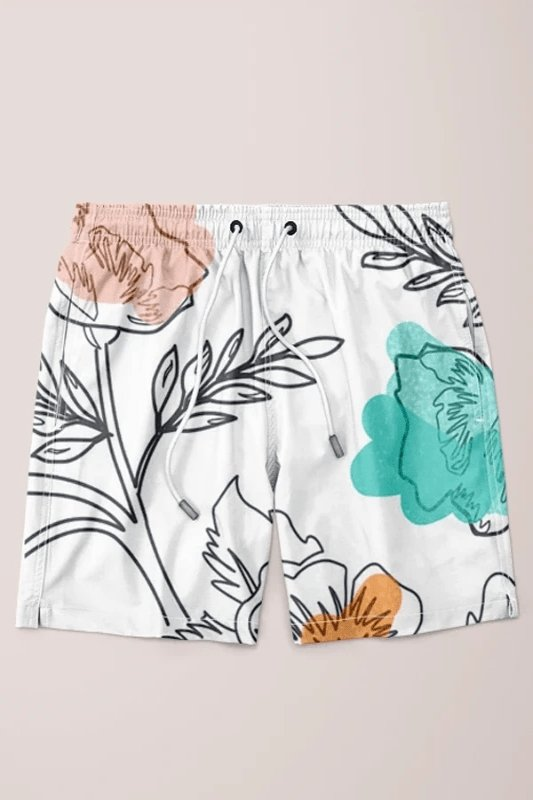 Floral Thoughts Shorts - MEN SHORTS - NIGEL MARK