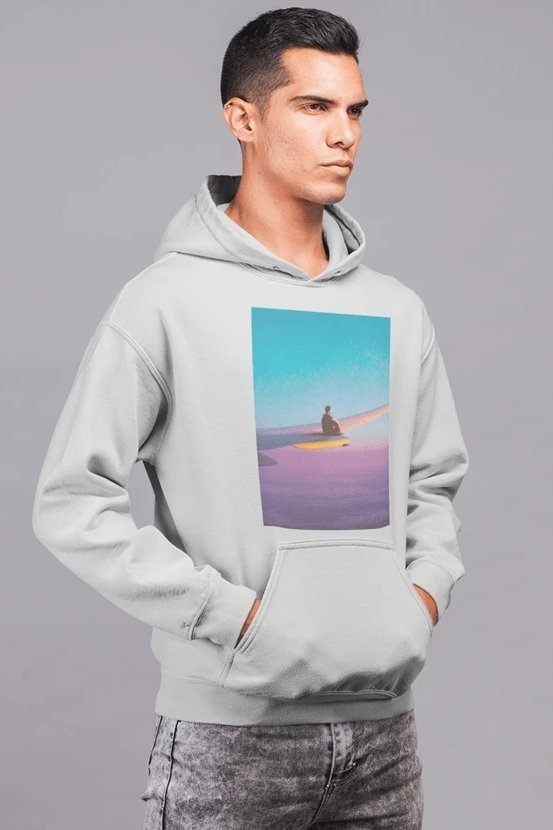 Flying Alone Hoodie - MEN TOPS - NIGEL MARK