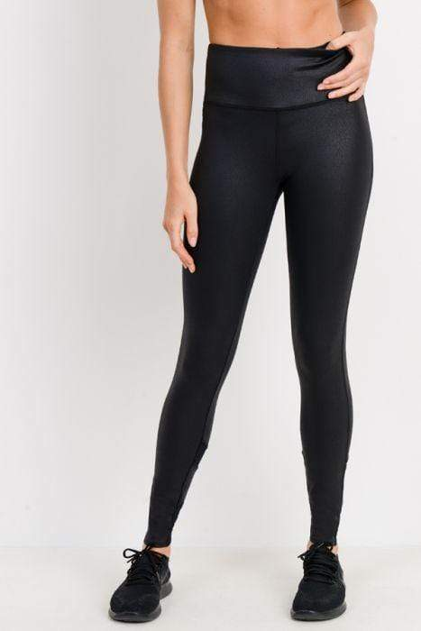 Foil Zig-Zag Mesh Leggings - BOTTOMS - NIGEL MARK