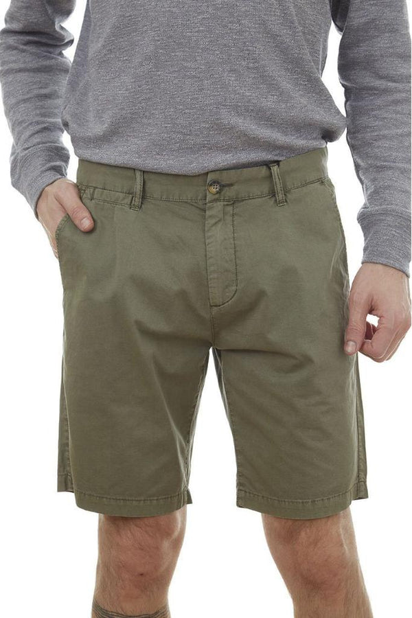Forest Green Chino Shorts - Men's Clothing - NIGEL MARK