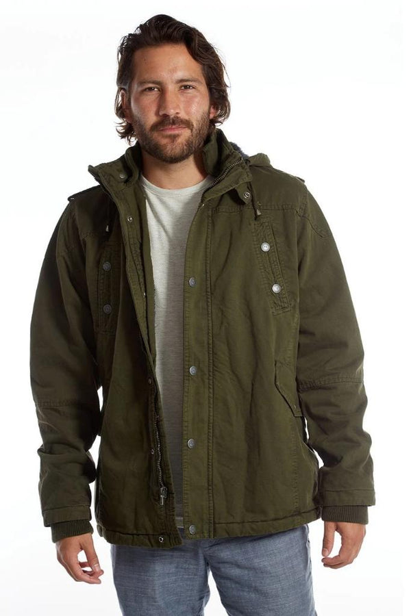 Forest Green Long Cotton Jacket - Men's Clothing - NIGEL MARK