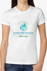 Frontline Flight Attendant Women's The Boyfriend Tees - FRONTLINE FLIGHT ATTENDANTS - NIGEL MARK