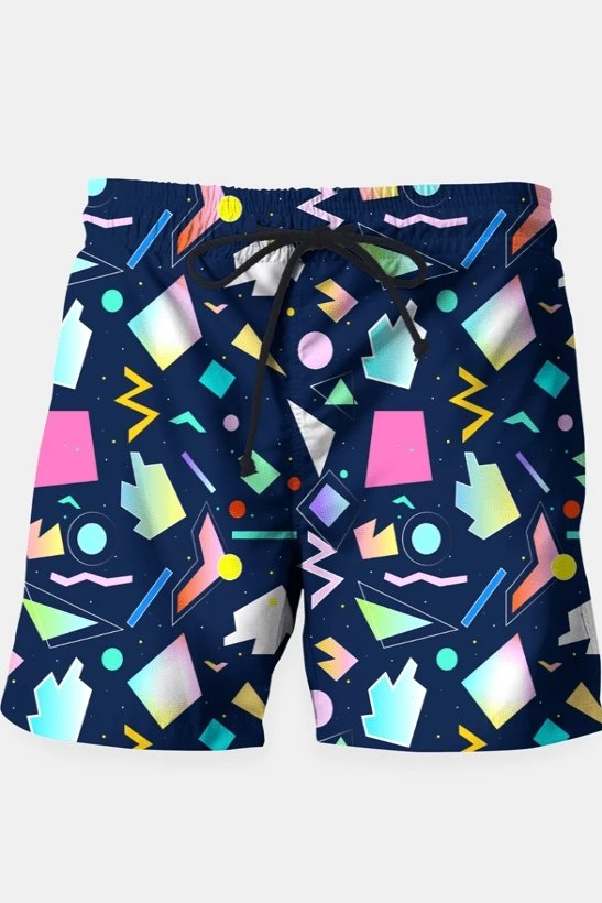 Funny Colorful Pattern Shorts - MEN SHORTS - NIGEL MARK