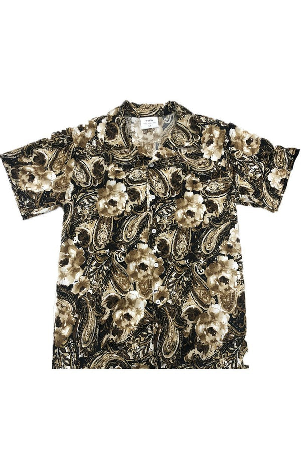 Gastro Print Button-Down Shirt - MEN TOPS - NIGEL MARK