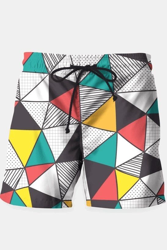 Geometric and colorful pattern Shorts - MEN SHORTS - NIGEL MARK