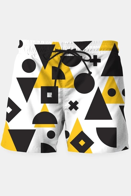 Geometric Pattern 2 Shorts - MEN SHORTS - NIGEL MARK