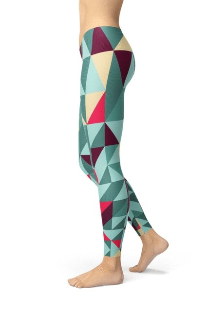 Geometric Triangles Legging - BOTTOMS - NIGEL MARK
