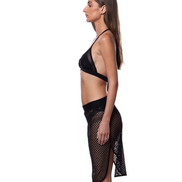 Go Fish Side Slit Skirt - Swimwear - NIGEL MARK