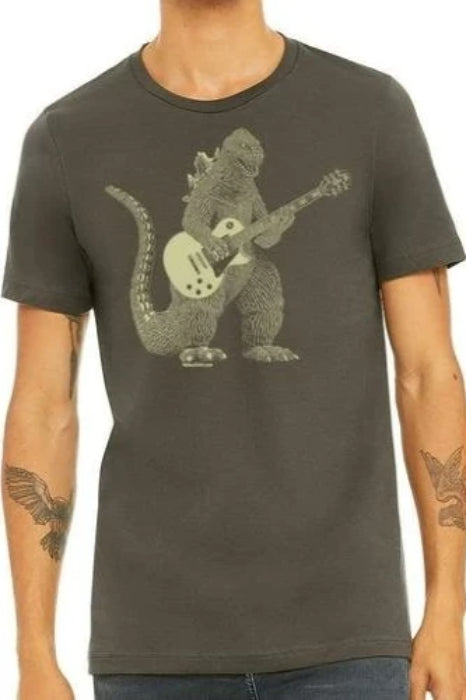 Godzilla Playing Guitar T-Shirt - T-shirts - NIGEL MARK