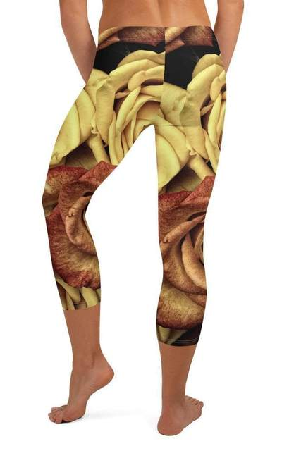 Golden Rose Capri Leggings - BOTTOMS - NIGEL MARK