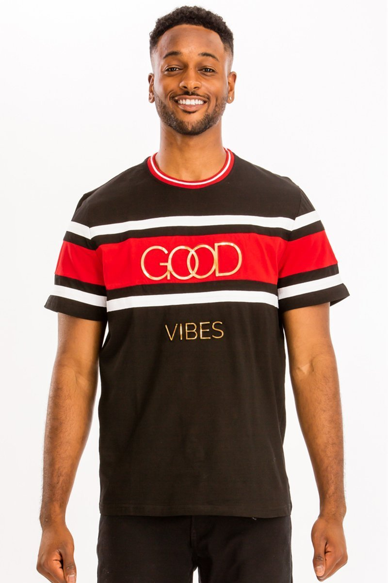 Good Vibes T-Shirt - Black - Men's Clothing - NIGEL MARK
