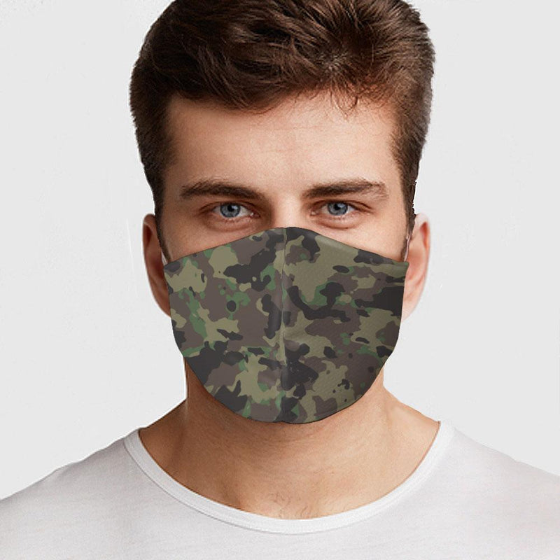 Green Army Camo Face Cover - BEAUTY & WELLNESS - NIGEL MARK
