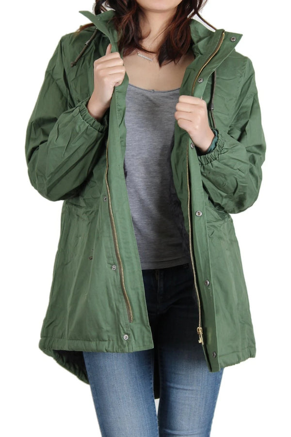 green anorak jacket