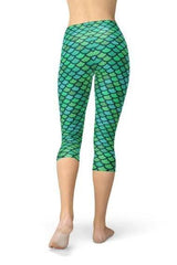 Green Mermaid Capri Leggings - BOTTOMS - NIGEL MARK