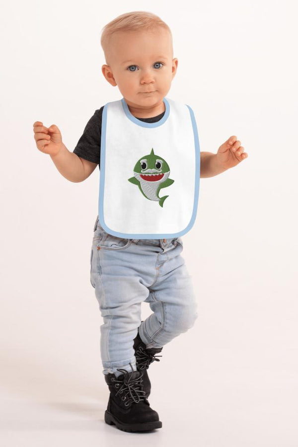 Green Shark Baby Bib - NM BRANDED - NIGEL MARK