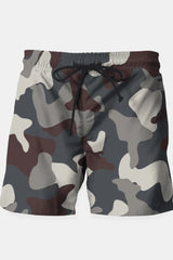 Grey Blue Army Camouflage Pattern Shorts - MEN SHORTS - NIGEL MARK